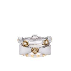 Henri Bendel Silver Bow Stackable Ring
